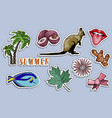 stickers set paradise summer holiday concept vector image