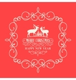 The Christmas postcard vector image vector image
