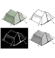 touristic tent vector image vector image