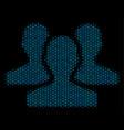 users mosaic icon of halftone circles vector image vector image