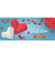 valentines day website banner vector image