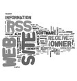 what is rss and how can it benefit you text word vector image vector image