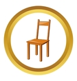 Wooden chair icon vector image