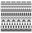 Border decoration elements pattern vector image