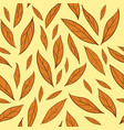 seamless pattern with orange autumn leaves vector image