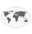 Wire globe map EPS10 vector image