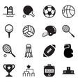 silhouette basics sports equipment icons symbol vector image