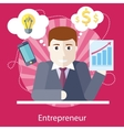 Entrepreneur Working on Freelance Project vector image