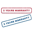2 Years Warranty Rubber Stamps