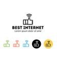 Best internet logo vector image vector image