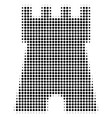 black dotted bulwark tower icon vector image
