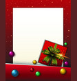 border template with red present box vector image