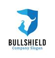 Bull Shield Design vector image vector image