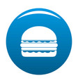 burger icon blue vector image