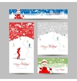 Business cards design People skiing winter vector image vector image