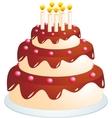 cake cartoon vector image vector image