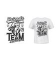 cardinal bird t-shirt print mockup sport team vector image