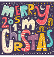 christmas with merry christmas text vector image vector image