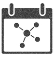 Connections Calendar Day Grainy Texture Icon vector image vector image