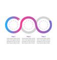 creative gradient flowchart infographic template vector image vector image