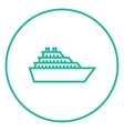 Cruise ship line icon vector image vector image