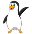 Cute penguin cartoon waving vector image vector image