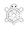 cute turtle isolated icon vector image vector image