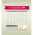 December 2013 calendar vector | Price: 1 Credit (USD $1)