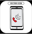 doodle smartphone icon vector image vector image