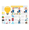 electricity infographics elements electricity vector image vector image