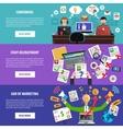 Freelance recruitment concept flat banners set vector image vector image