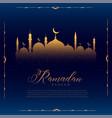 glowing mosque design for islamic ramadan kareem