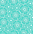 Graphic hibiscus floral seamless pattern vector image vector image