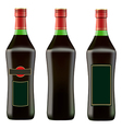 green bottle of red martini vector image vector image