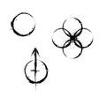 grunge circle symbols vector image vector image