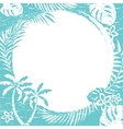 grunge tropical border vector image vector image