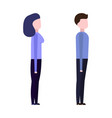 guy and girl view from the side vector image vector image