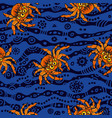 halloween seamless pattern with red cartoon vector image