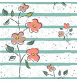 hand drawn seamless pattern with plants and vector image