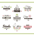 Happy Friendship Day Color Set vector image vector image