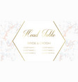 head table bride and groom template card vector image