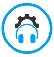 Headphones Configuration Rounded Icon vector image