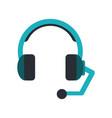headset headphones microphone icon image vector image vector image