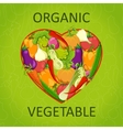 Healthy life - heart shape with vegetables vector image vector image