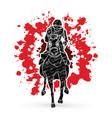 horse racing jockey riding horse vector image vector image