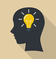 Human head thinking a new idea vector image vector image