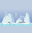 Ice background game style collection vector image