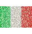 italy sparkling flag vector image