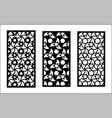 jali laser pattern design set decorative vector image