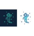 linear style icon of a diver vector image